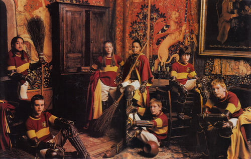 everythingpotter-:    the original Gryffindor quidditch team.   Best team ever.