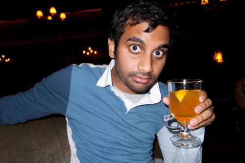 Aziz enjoying a Hot Toddy at The Bowery hotel.