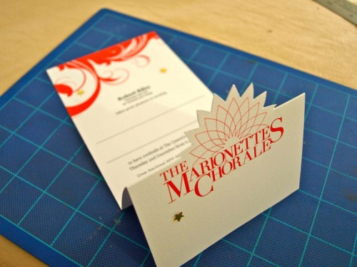 Special invitations for The Marionettes Chorale