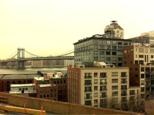 Manhattan Bridge seen from the Brooklyn Bridge