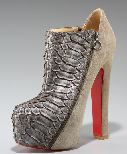 The thickest heel I've seen on a Louboutin.