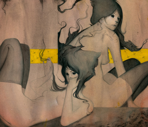 joao ruas, haunted #25, acrylic on paper, 2009
