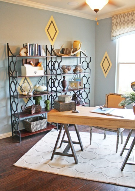 Study - eclectic - home office - dallas - by Cristi Holcombe