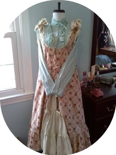 old Metamorphose pin tuck floral jsk Back in the day, Meta did a lot of pieces that look more like natural kei. I tried to emphasize that aspect in this coordinate by unbuttoning the bottom half of the jsk to show an underskirt, as is often done in natural kei <3