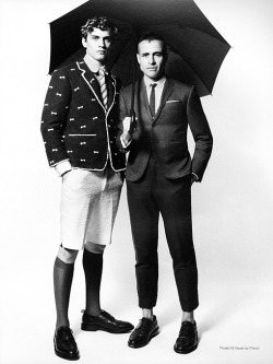 AJ Abualrub & Thom Browne | Varón Vol. 1 • 2011 (Photography: Chris Craymer)