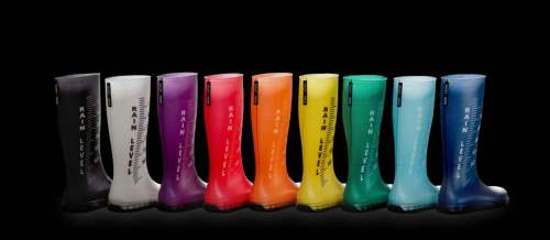 regina regis rain level rainbow boots: via knstrct.com