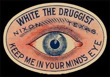 vintage poison eye label via www.spookshows.com