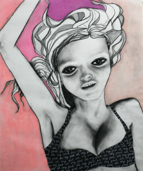 Oh my god charcoal and watercolor / 2010