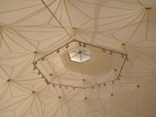 niico:   Charter-Sphere Dome tent designed by TC Howard of Synergetics, Inc and Charter Industries, Inc of Raleigh, NC.