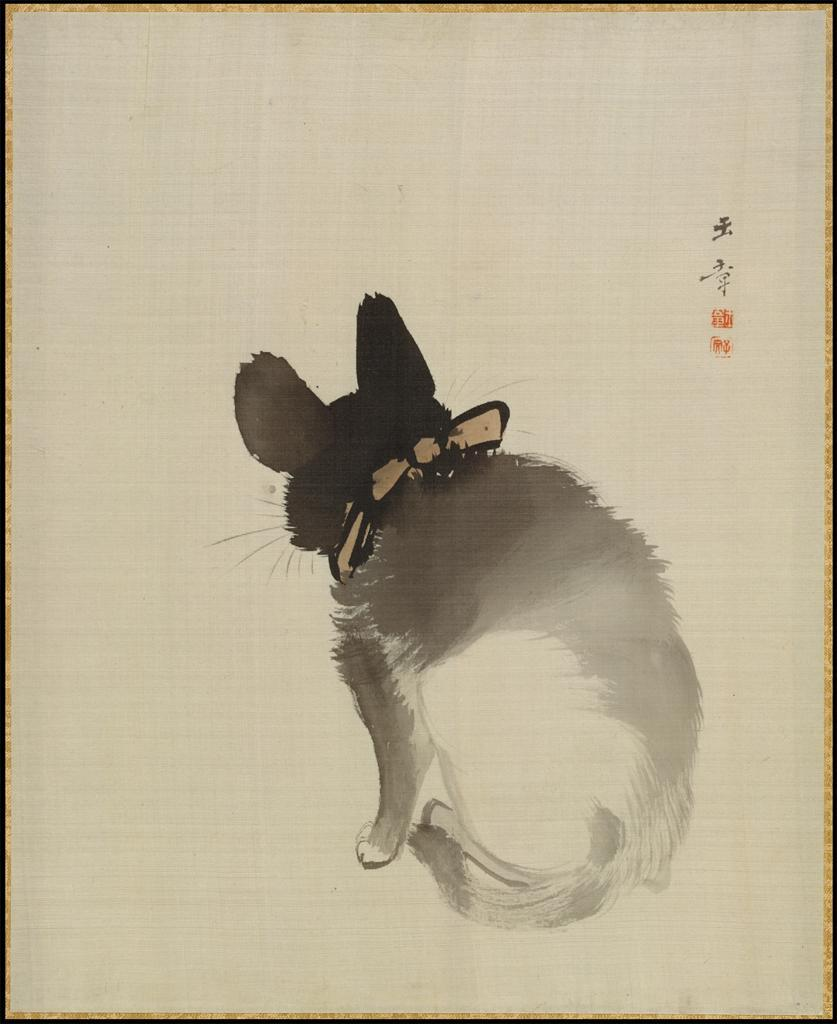 petitpoulailler:  aleyma: Kawabata Gyokusho (Japanese, 1842-1913) ~ Cat, late 19th-early 20th century source