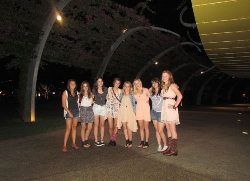 oceandiamonds:  southbank for my birthday.  yaaay fun night :)