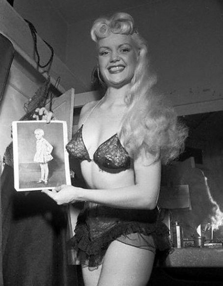 Shirley Jean Rickert (of Hal Roach's Our Gang) as burlesque dancer Gilda and Her Crowning Glory - c. 1940s