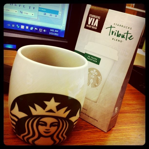 New mug & new coffee #Starbucks #coffee (Taken with instagram)