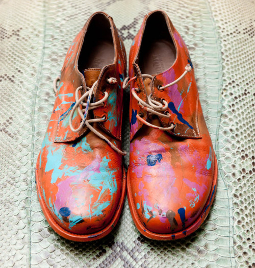 thetailorsstories:  These McQueen Shoes are hand-painted and are always a conversation starter. -Cameron Silver via The Coveteur LOVE THESE SHOES!!!