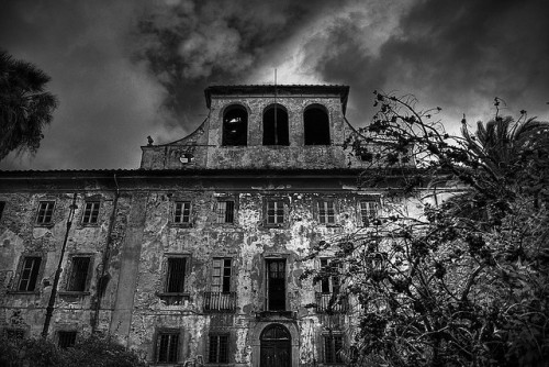 Maniac mansion (by Jano De Cesare) The main building of an abandoned psychiatric complex near Pistoia (Tuscany)