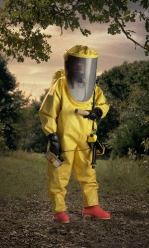 "The art: Paul Shambroom, Level A HAZMAT suit, yellow. (""Disaster City""  National Emergency Response and Rescue Training Center, Texas  Engineering and Extention Service (TEEX), College Station, TX), 2004. The news: ""Workers Strain to Retake Control After Blast and Fire at Japan Plant,"" by Keith Bradsher, Hiroko Tabuchi and David E. Sanger in the New York Times. The source: Collection of the Minneapolis Institute of Arts. Special thanks to Modern Art Notes reader-commenter tsp."
