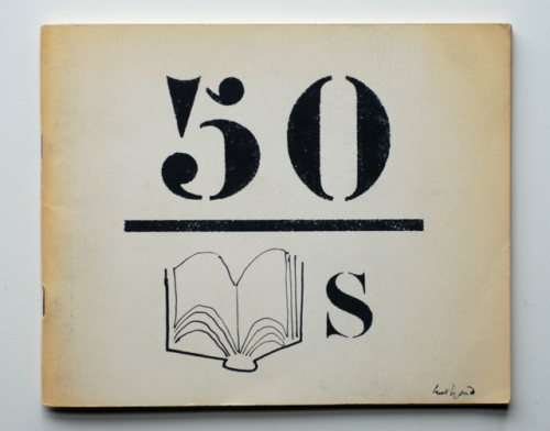 Paul Rand's cover design for the 1960 catalog cover of AIGAs 50 Books | 50 Covers exhibition.