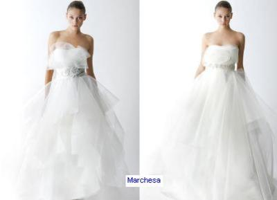 Oh Marchesa, how I love thee! The one on the left is my DREAM wedding gown. Marchesa is another designer who I absolutely love love love. They never fail to impress me with their structural elegance and the feminine quality of it all, whether it be a mini dress or a wedding gown. I think I just have a thing for draping!