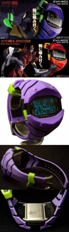The EVA Watch Project. Inspired by Neon Genesis Evangelion's robot designs for the EVA-01 and EVA-02 mechs, these watches are an instant need. I could never get away with wearing one, but they are supremely awesome and I want an EVA-W01 NOW. Available to buy at the source, but they ain't cheap.