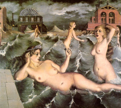 blueruins:  Nymphs Bathing (1938) by André Delvaux