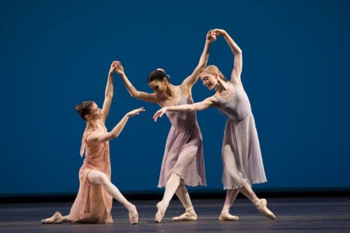 "Alina Cojocaru, Tamara Rojo and Sarah Lamb in Jerome Robbins' ""Dances at a Gathering"" - The Royal Ballet"