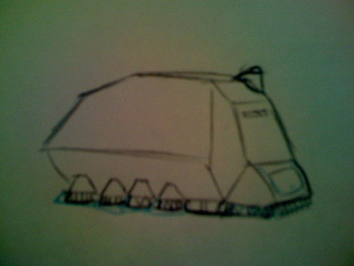 concept sketch for Futurama. ring sweeper.