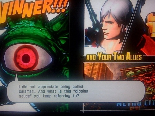 bison2winquote:  - Shuma-Gorath after defeating Deadpool, Marvel vs Capcom 3: Fate of Two Worlds (Capcom)