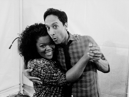 dragonturtle:  Look at this gorgeous twosome at #nbccommunity #PaleyFest! @dannypudi @yvettenbrown  dawwwwwwwwwwww :D