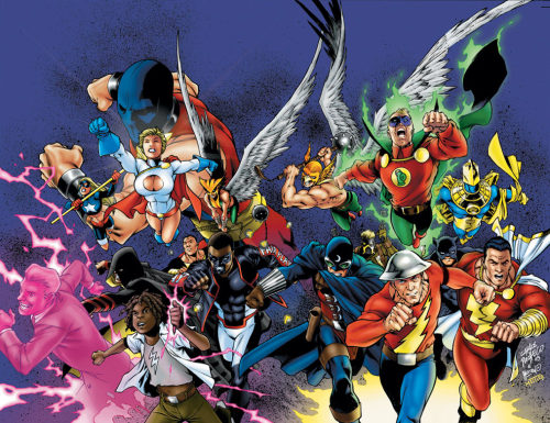 Carlos Pacheco's terrific wraparound cover for JSA #50.