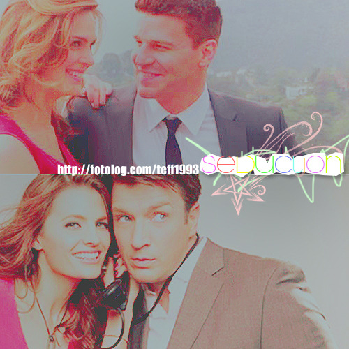 neraa:  teff1993:  Bones & Castle Emily Deschanel David Boreanaz Stana Katic Nathan Fillion I love these four  ^ ^ ME2 (: