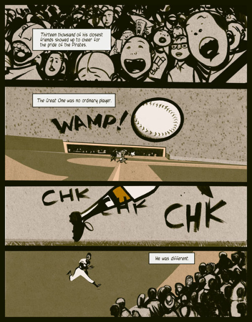 21: The Story of Roberto Clemente will be released by Fantagraphics on April 12. Great news. This book has been delayed for two years. (More art from 21: Publishers Weekly)
