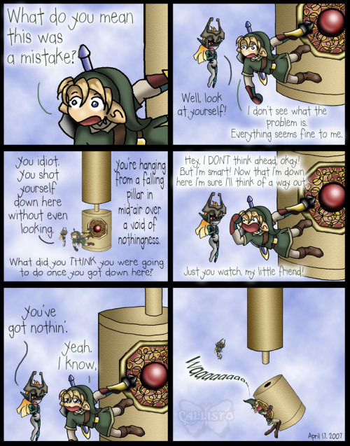 Yeeeah, I totally did this a few times on my first visit to the Sky Temple. Bleh. It was my least favorite temple of all time, in any LoZ game.