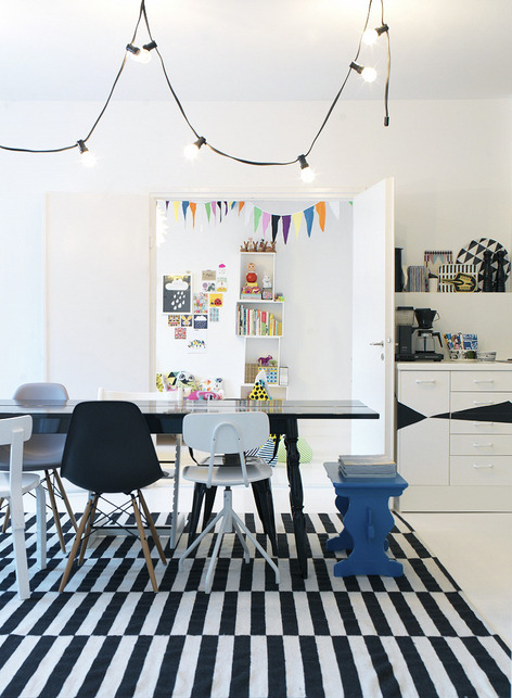 fromscandinaviawithlove:  The home of the Finnish stylist Susanna Vento. Photo by Petra Bindel for Dwell.
