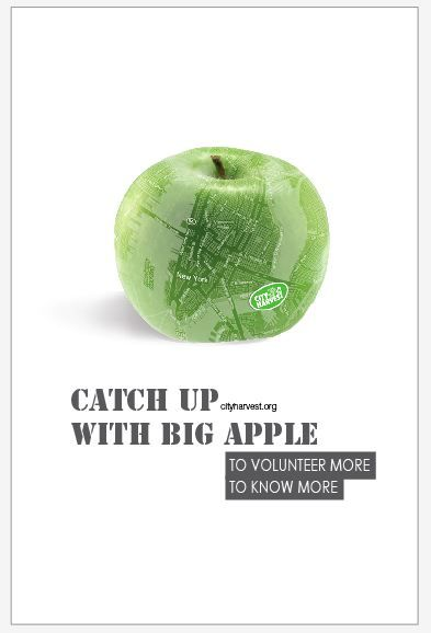 "City Harvest Volunteer- ""Catch up with Big Apple"" In collaboration with Julieta Lucca"