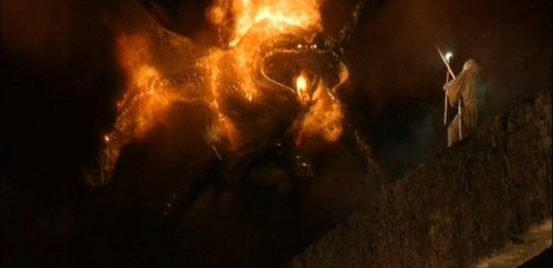 "50 Awesome Movie Monsters 34) The Balrog The Movie: LOTR: The Fellowship Of The Ring (2001) The Amazing: ""What is this new devilry?"" quakes Boromir, and well might he ask. In case all his kittenish scampering to safety left him too breathless and squealy to notice, we feel duty-bound to inform him that the Balrog is a…well, it's a sort of giant lumbering sheep-dragon-antelope dealio that enjoys trying to cross very narrow bridges with its gonads all riotously ablaze. Genius Detail: The ability to fashion its own crotch-fire into a whimsical array of A-grade weaponry including massive swords and flailing horsewhips? Yeah, we'd probably take that to be honest."