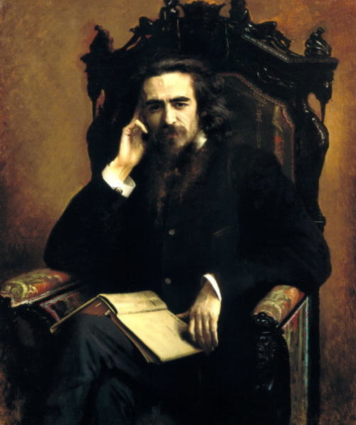 rehumanize:  Vladimir Solovyov by Ivan Nikolaevich Kramskoy (1885)Inspiration for Alyosha and Ivan Karamazov as well as Leo Tolstoy's The Kreutzer Sonata (1889)