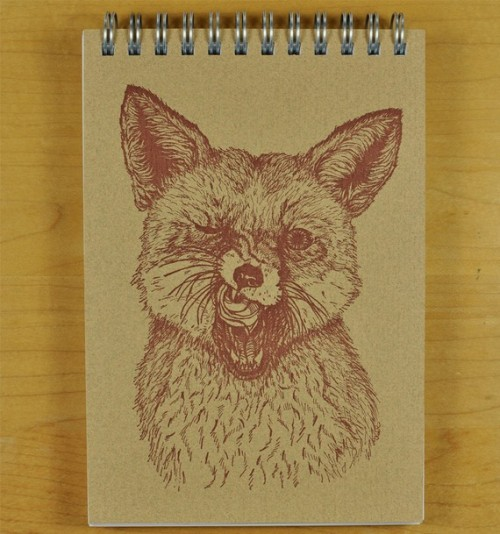 Fox Says Tasty Note Book by DandyLionPress on Etsy