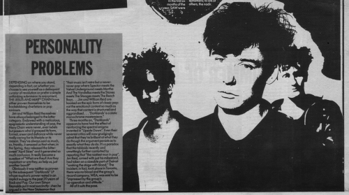 The Jesus and Mary Chain / Melody Maker 1987