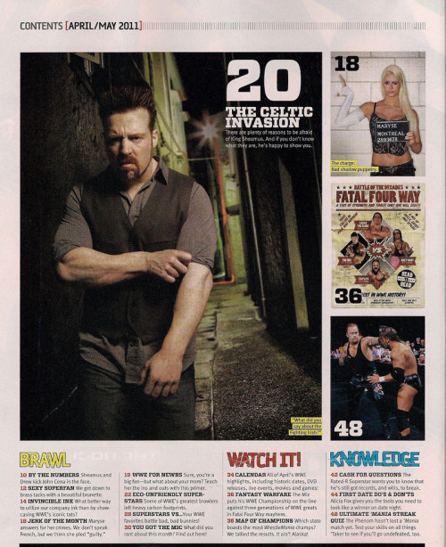 Sheamus and Maryse on the same page <3 And they both look scrum diddly umptious.