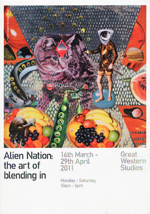 Simon Spilsbury (@artbomber1)'s illustration will be up in the Alien Nation show at Great Western Studios until the end of April. Find out more here.