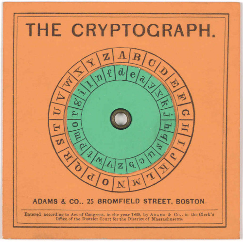 Cryptograph; Adams & Co., Boston