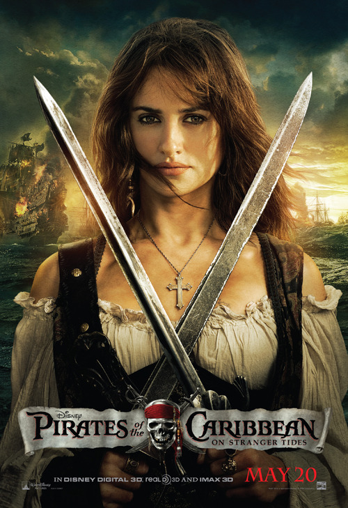 New 'Pirates 4' Poster Featuring Penelope Cruz!