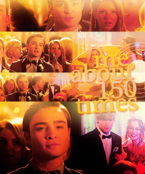 47 DAYS OF CHAIR; (11) Favorite Chuck moment  serena: oh, i can't believe blair won! dan: yeah, who even voted for her? chuck: me. about 150 times. i wasn't putting the nelly yuki ballots in. i was taking them out. serena: but what about what she said you did to her limo and hotel and her corsage? chuck: her new dress looks better without it. give this to her. it's to the penthouse at the plaza. you didn't think you were the only one who knew about the scrapbook, did you? serena: chuck, i… i can't believe i'm saying this, but… that was really sweet. chuck: i just wanted to make sure she had the perfect night. — gossip girl 2x24 valley girls