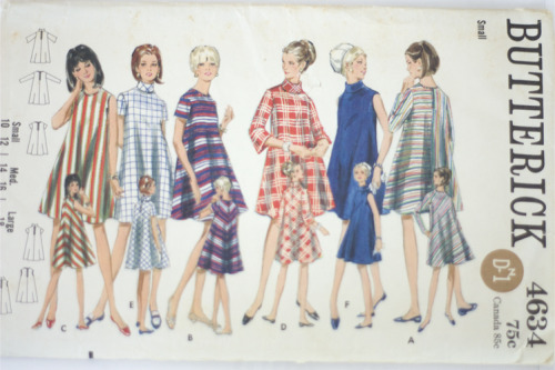 Late '60s tent dress pattern