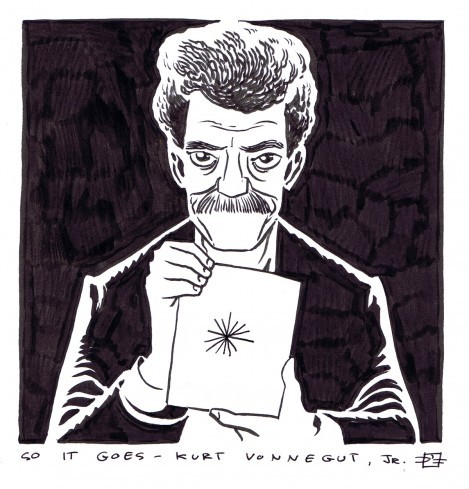 all-heart:  Kurt Vonnegut by D'Israeli