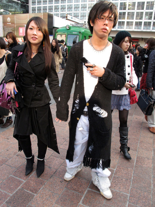 Fashion in Shibuya, Tokyo! Donate to the Red Cross to help Japan! Photo by Brad Elterman