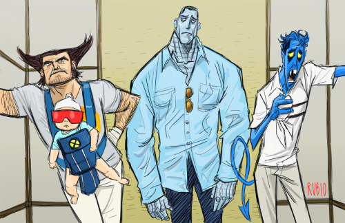 herochan:  A Very X-Men Hangover  - by Bobby Rubio  website || deviantART (via:tampontears)