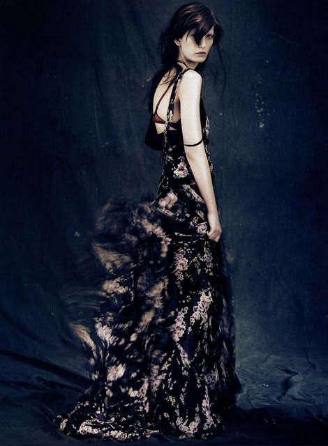 Valerija Kelava photographed by Paolo Roversi - Vogue Italia: October 2010 - A Poetic Winter
