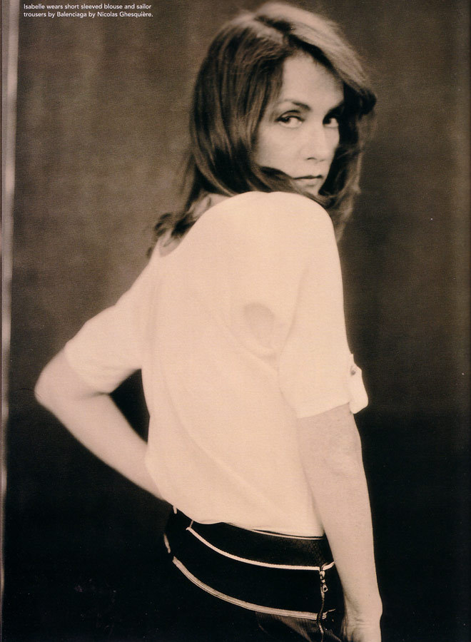 Isabelle Huppert photographed by Paolo Roversi - i-D Magazine: April 2005