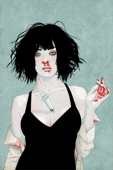 Mia Wallace #art #illustration #pulp fiction #tarantino
